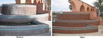 sodowanie   fontanna przed i po czyszczeniu