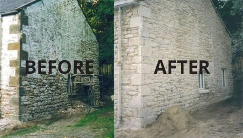sodowanie   ściana po czyszczeniu