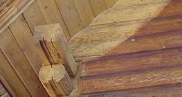 usuwanie przebarwień na drewnie
